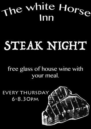 Steak Night at the White Horse